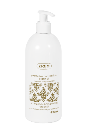 protective body lotion with argan oil