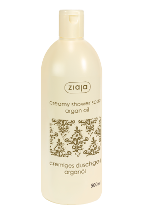 creamy shower soap with argan oil